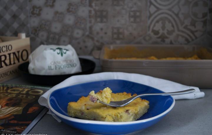 Sformato di ricotta patate e pecorino
