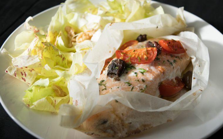 Salmone al cartoccio,ricetta light