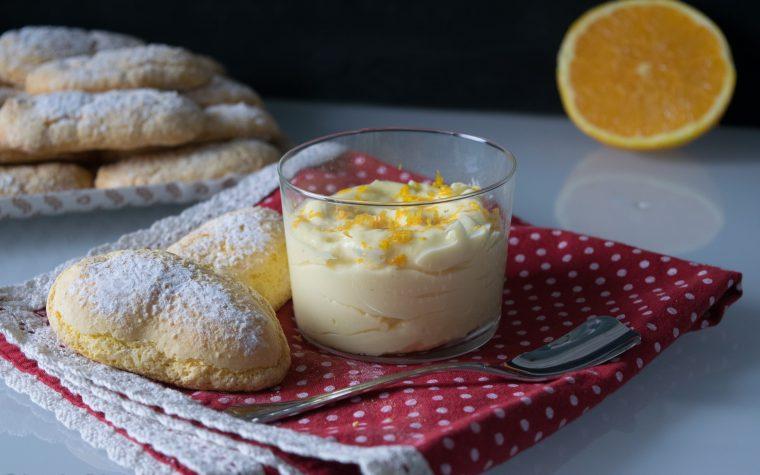 Crema al mascarpone e arancia,farcia o dessert al cucchiaio