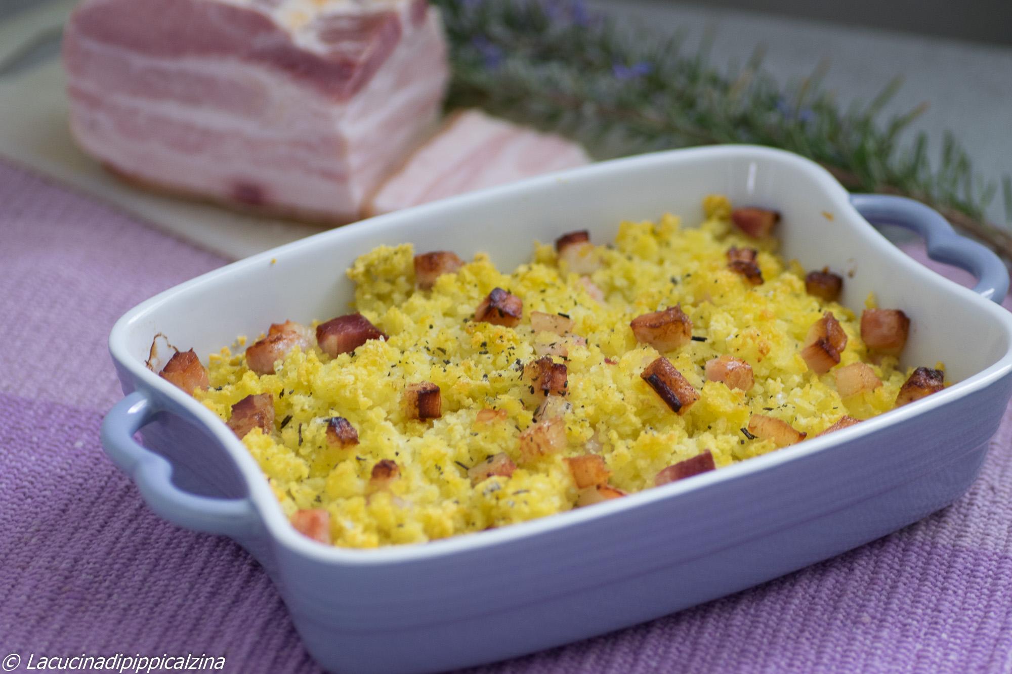 Sbriciolata di patate e bacon