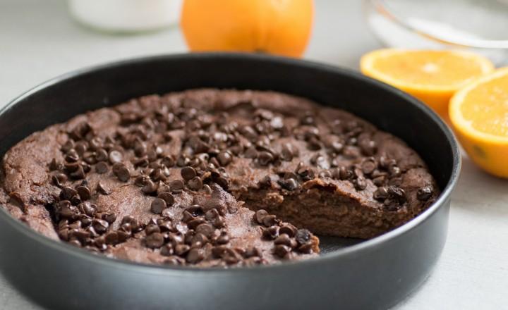 Migliaccio al cioccolato e arancia