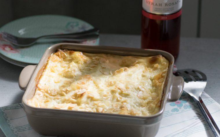 Lasagne porri e prosciutto