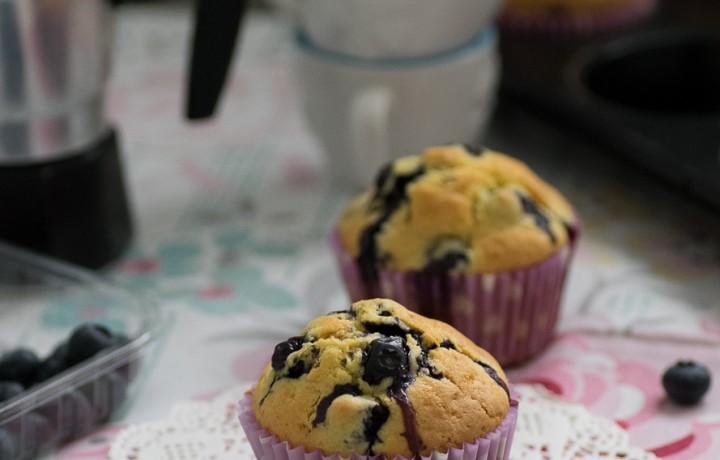 Muffin soffici ai mirtilli