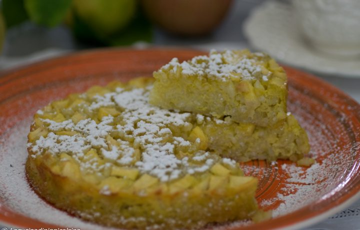 Torta di riso e mele, senza glutine