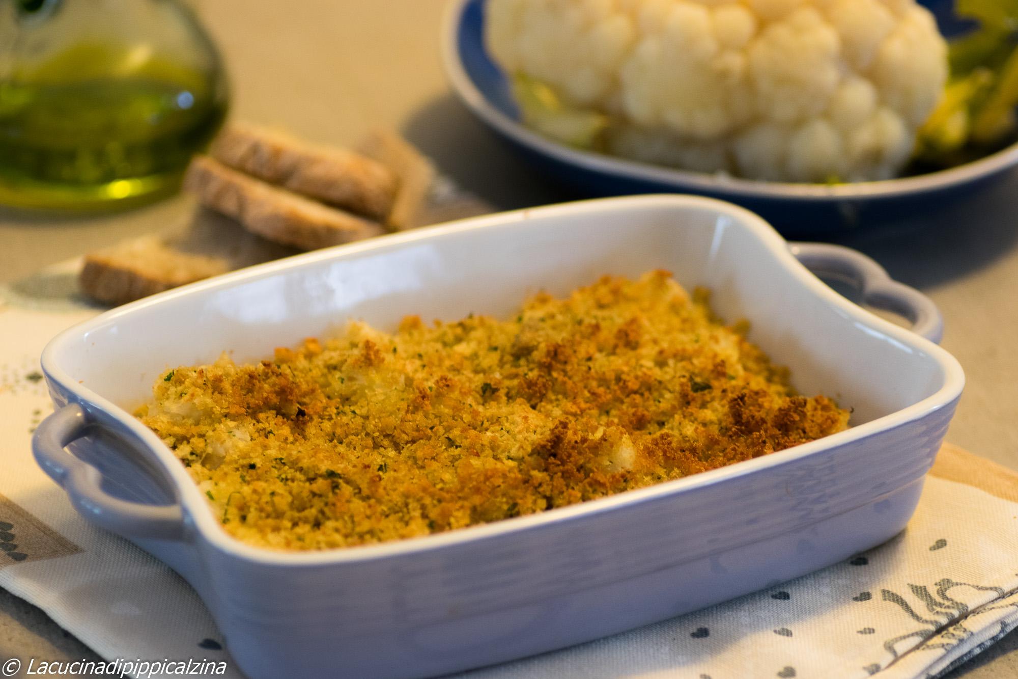 Gratin di pane aromatico e cavolfiore