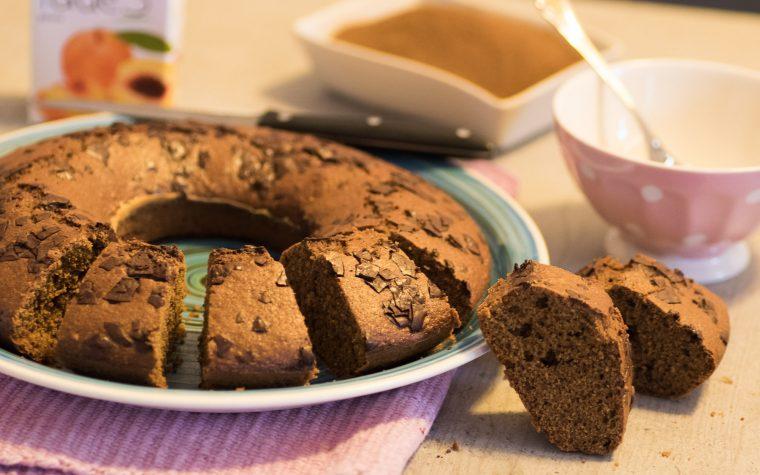 Ciambella con orzo e cioccolato