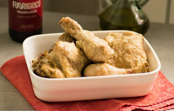 Pollo in salsa alla birra