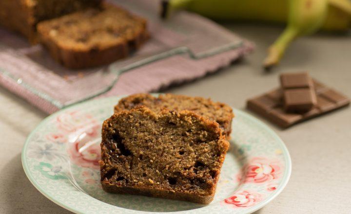 Plume cake rustico alle banane e cioccolato