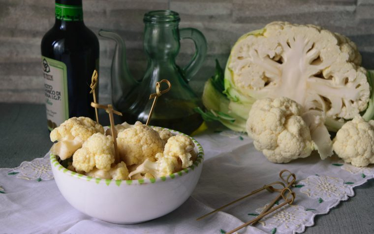Cavolfiore da aperitivo, con aceto balsamico