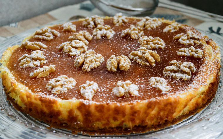 Cheesecake pere e noci