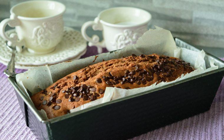 Plumecake al cacao e cioccolato