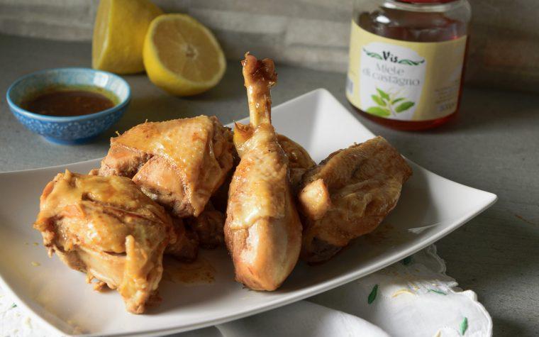 Pollo al limone senape e miele