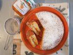 Torta versata con confettura di albicocche