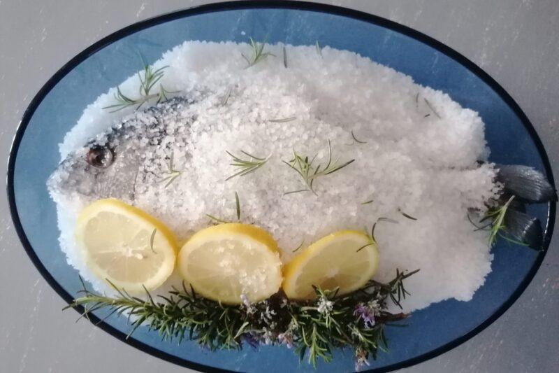 Orata al sale, ricetta leggera