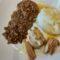 Vitello con lenticchie e polenta bianca