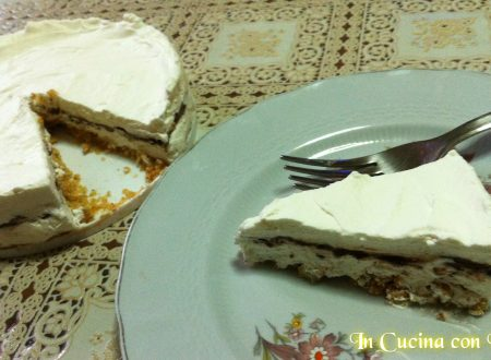 Torta fredda panna e nutella SENZA FORNO con base di biscotti