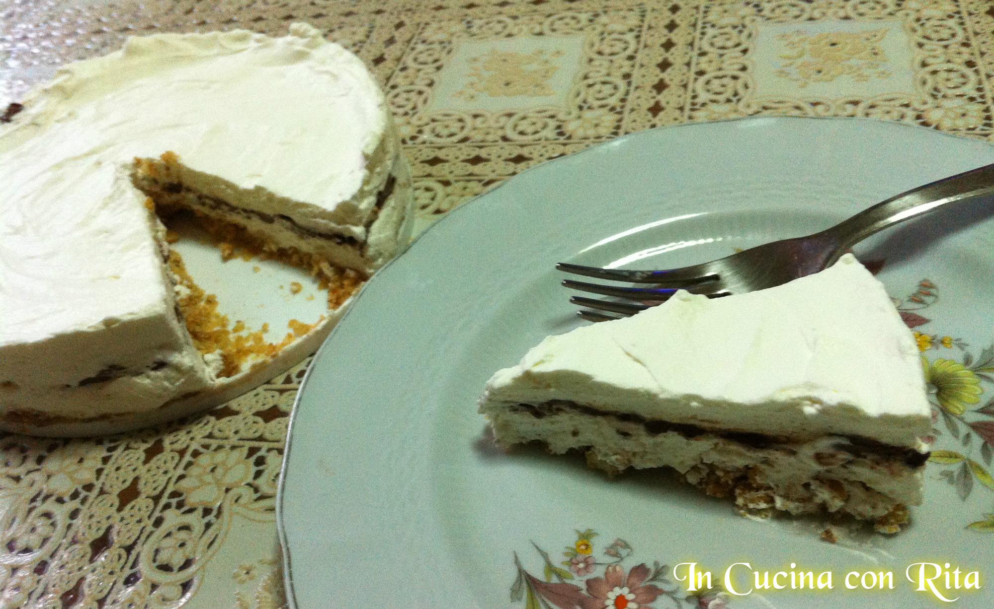 Cucina Con Rita : ... panna e nutella SENZA FORNO con base di biscotti ...