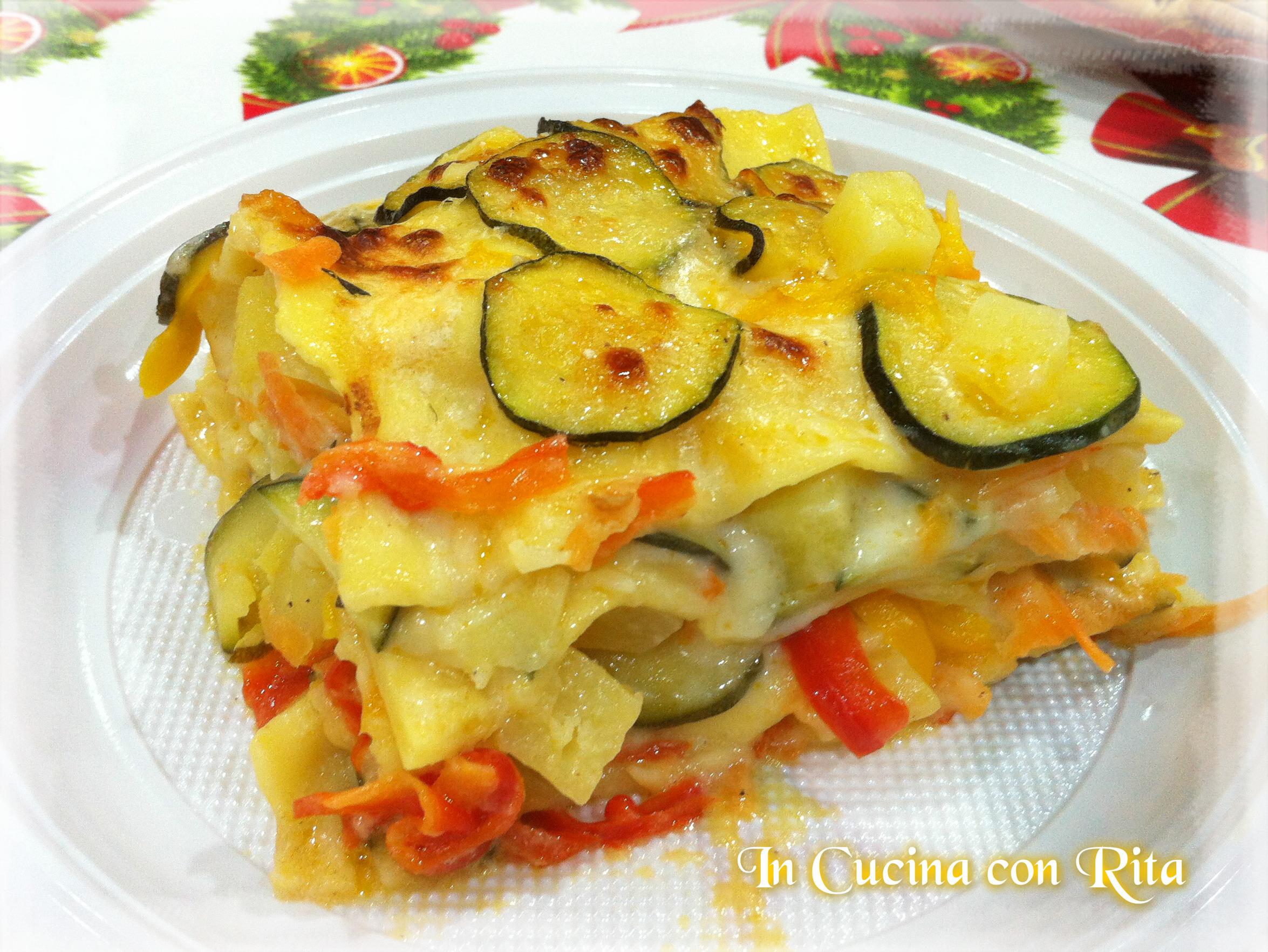 Lasagna fantasia di verdure