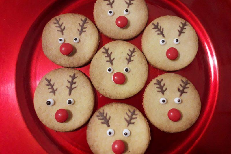 Biscotti di Natale,Rudolph la renna di Babbo Natale