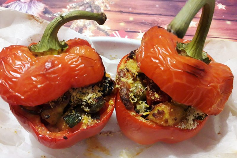 Peperoni ripieni di verdure,ricetta vegetariana