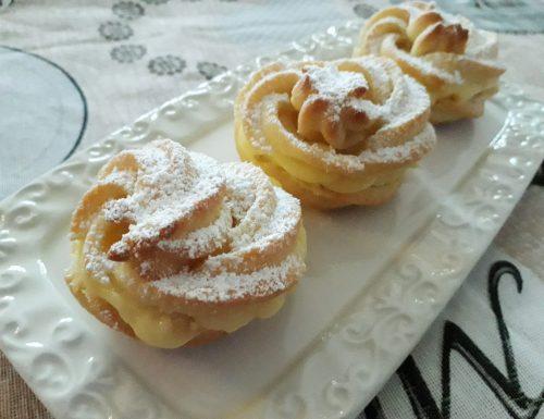 Zeppole al forno con crema pasticcera