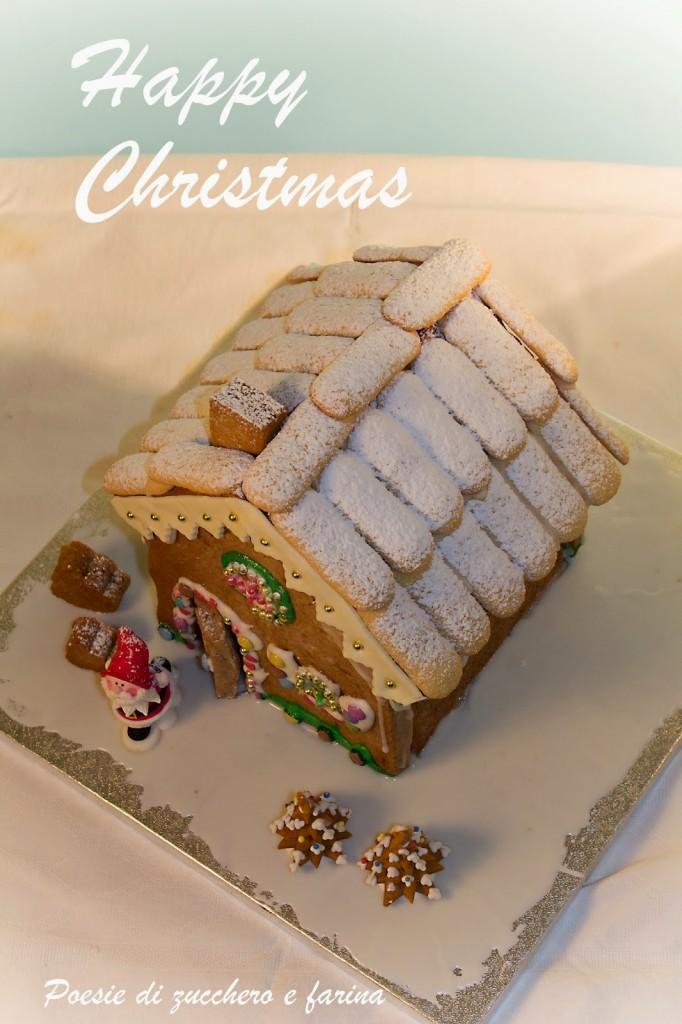 contenitore per t/è Contenitore a forma di casetta di pan di zenzero con coperchio sul tetto EGB caramelle SMALL 9cm misura media 14 cm o piccola 9 cm