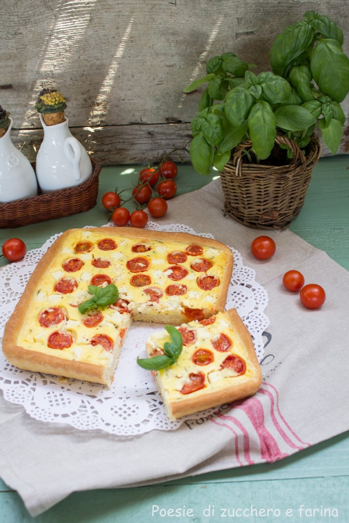 crostata di basilico