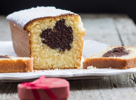 Plumcake al cioccolato bianco con cuore di fondente