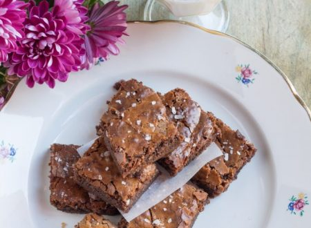Brownies con cioccolato al latte e fleur de sel