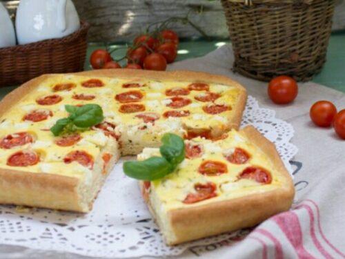 Torta salata di pomodorini e basilico