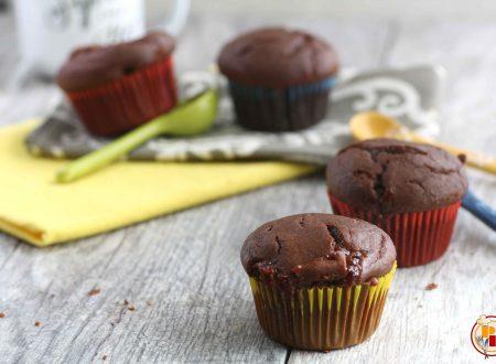Muffin allo Yogurt e Cacao con Cuore di Marmellata