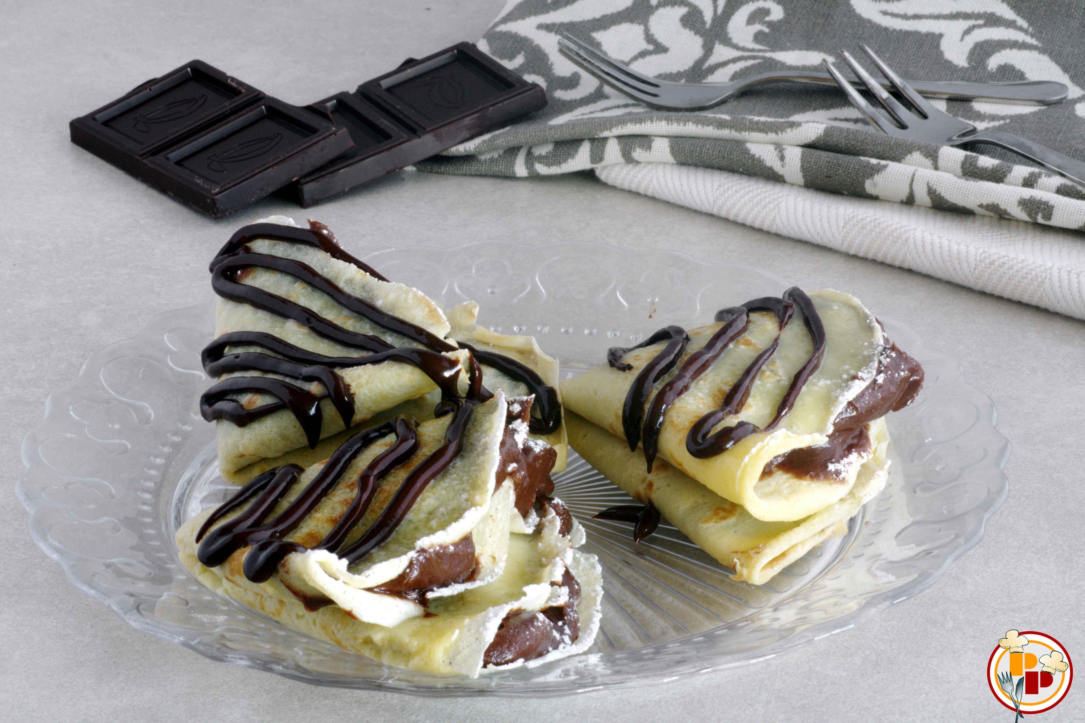 Crepes al Cioccolato e Mascarpone
