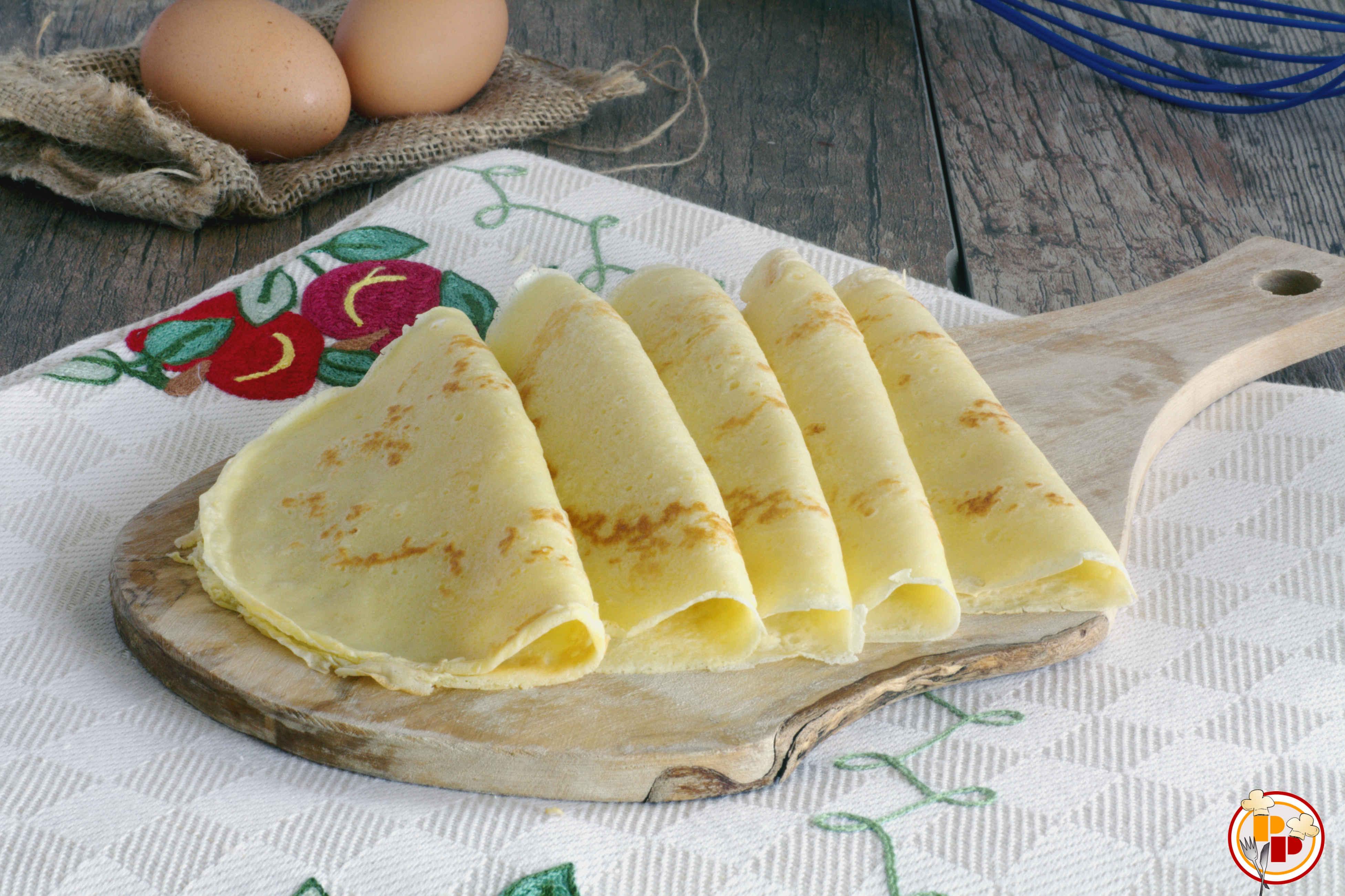 Crepes - Ricetta Impasto Base per Farciture Salate e Dolci