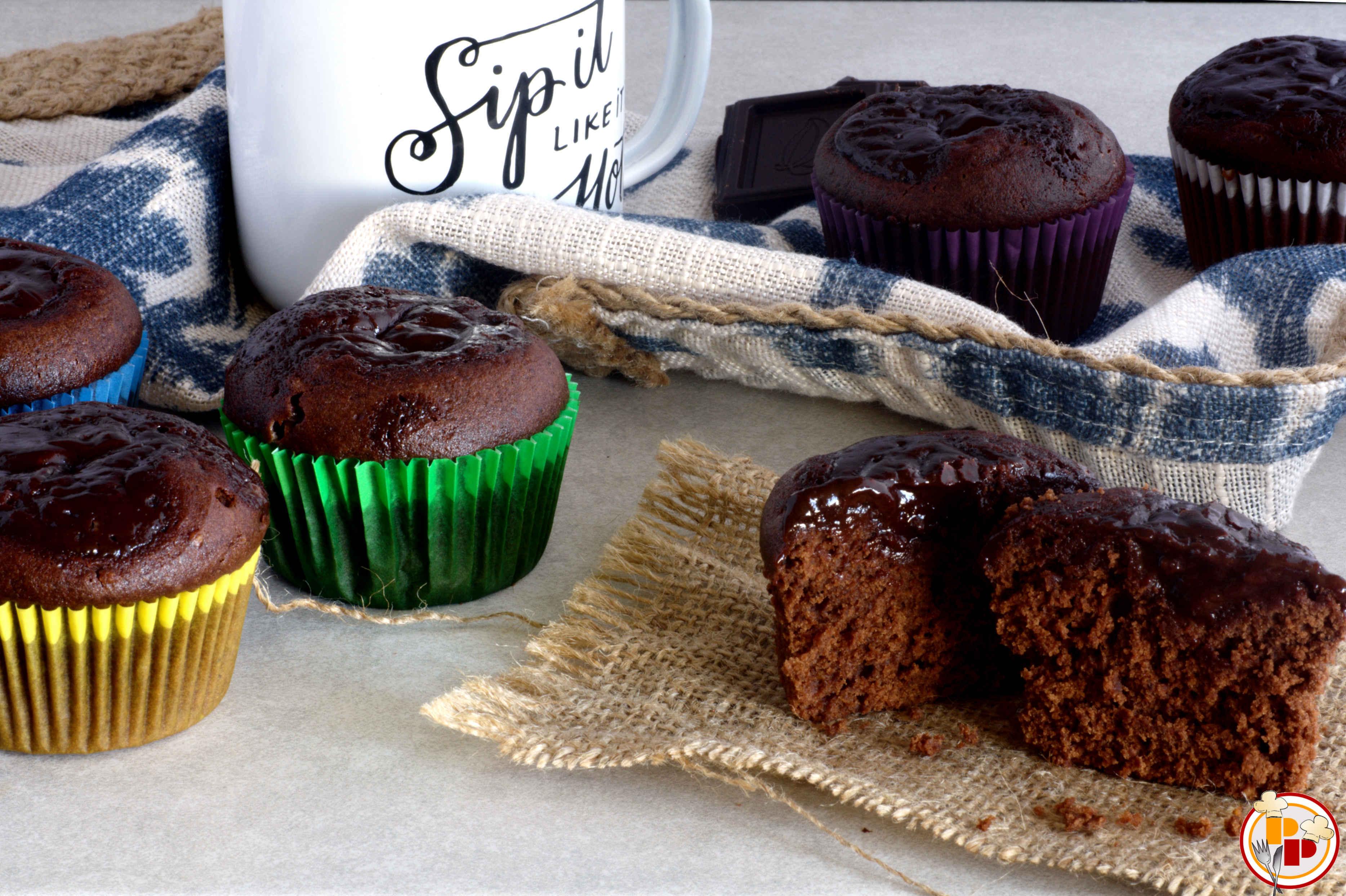 Muffin con Ganache Cioccolato