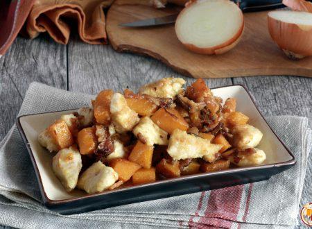 Bocconcini di Pollo con Zucca e Pancetta