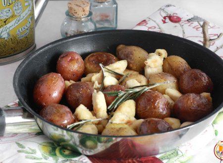 Bocconcini di Pollo e Patate Novelle in Padella