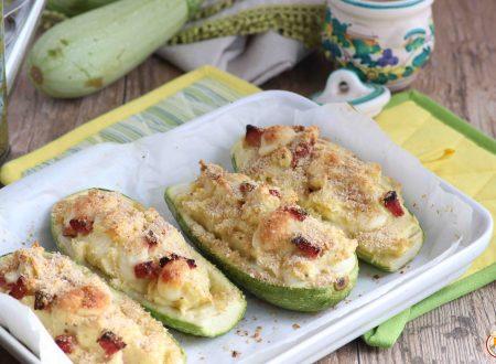 Zucchine Ripiene con Patate e Prosciutto Cotto