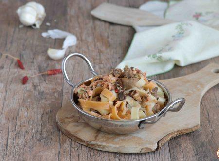 Pasta ai Funghi Porcini e Salmone Fresco
