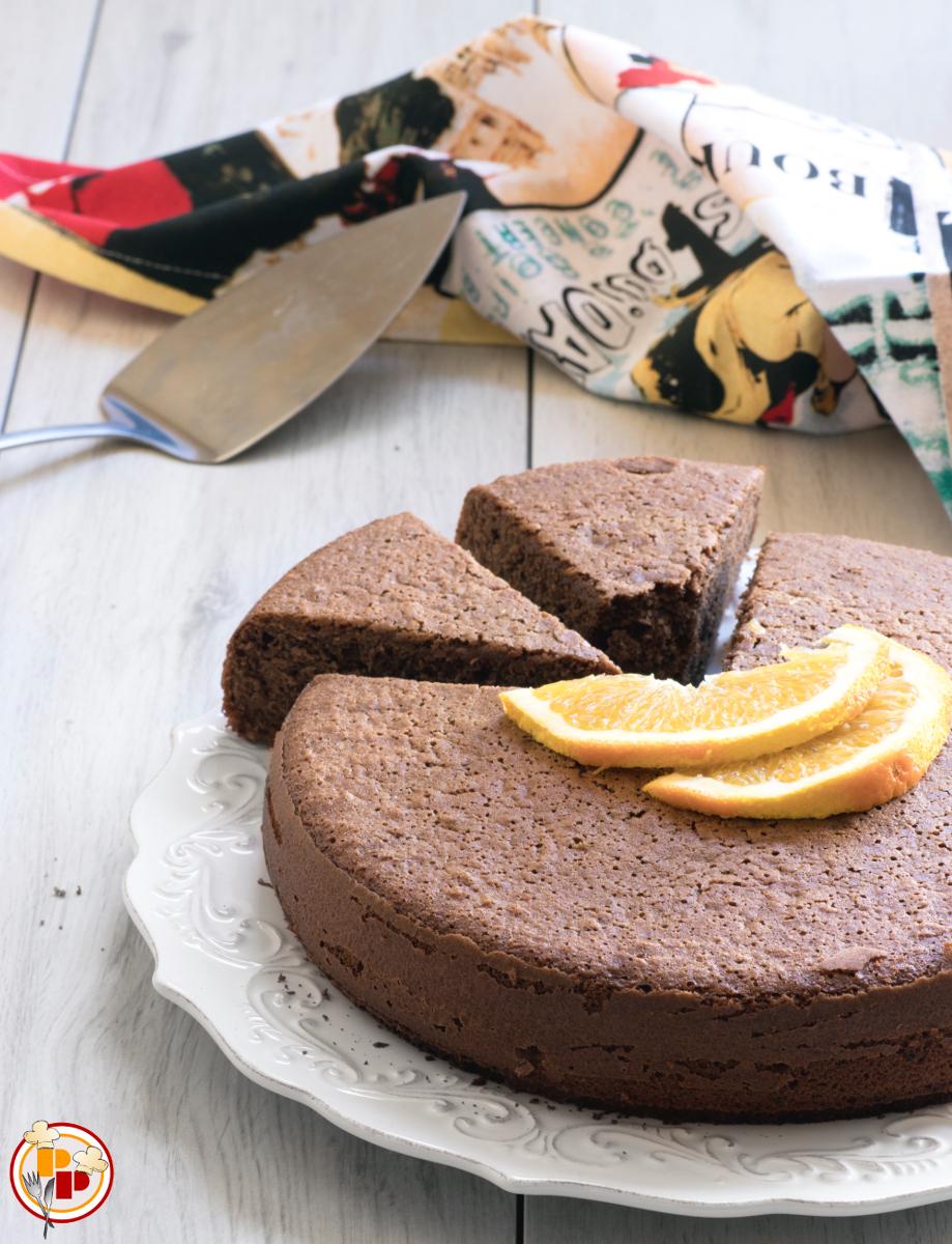 Torta al Latte Caldo, Cacao e Arancia