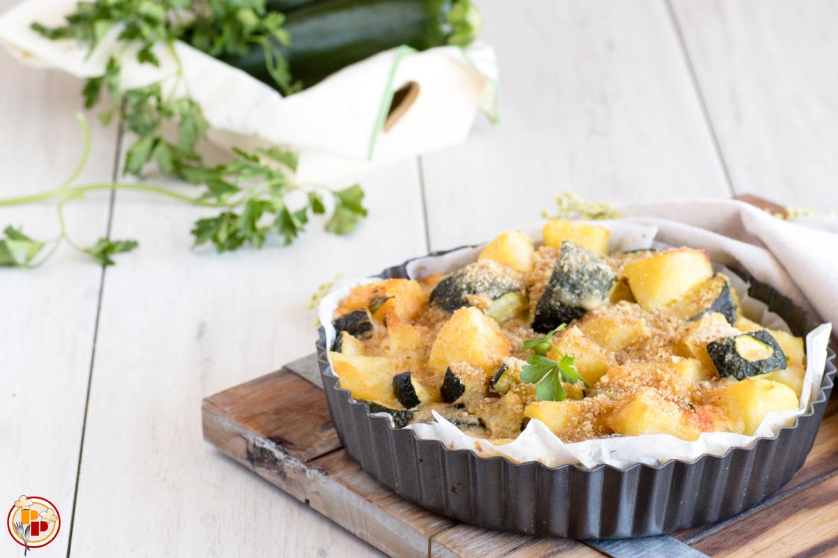 Tortino di patate e zucchine al forno ricetta facile e for Cucinare zucchine al forno