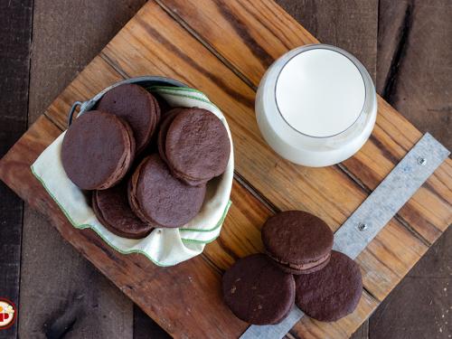 Biscotti Sandwich al Cacao
