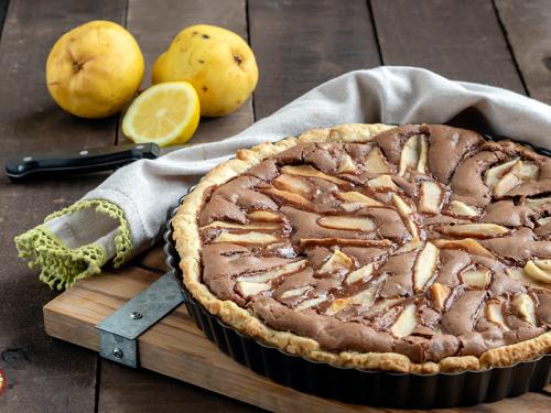 Crostata al Cioccolato con Pere e Noci