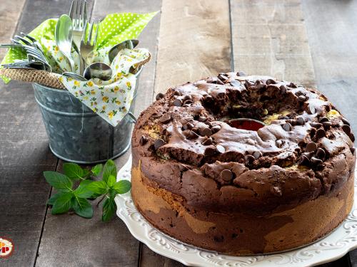 Ciambellone Bicolore Cacao e Vaniglia