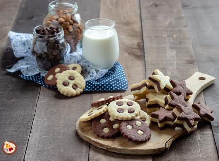 Biscotti di Pasta Frolla Bicolore