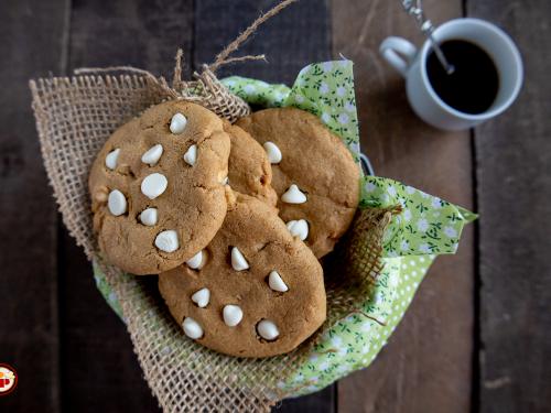 Cookies al Caffè e Cioccolato Bianco