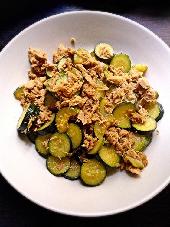 Zucchine e tonno