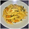 Pasta pomodorini melanzane fritte e provola affumicata