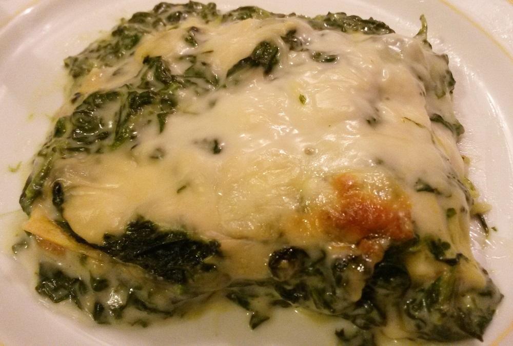Lasagne agli spinaci.