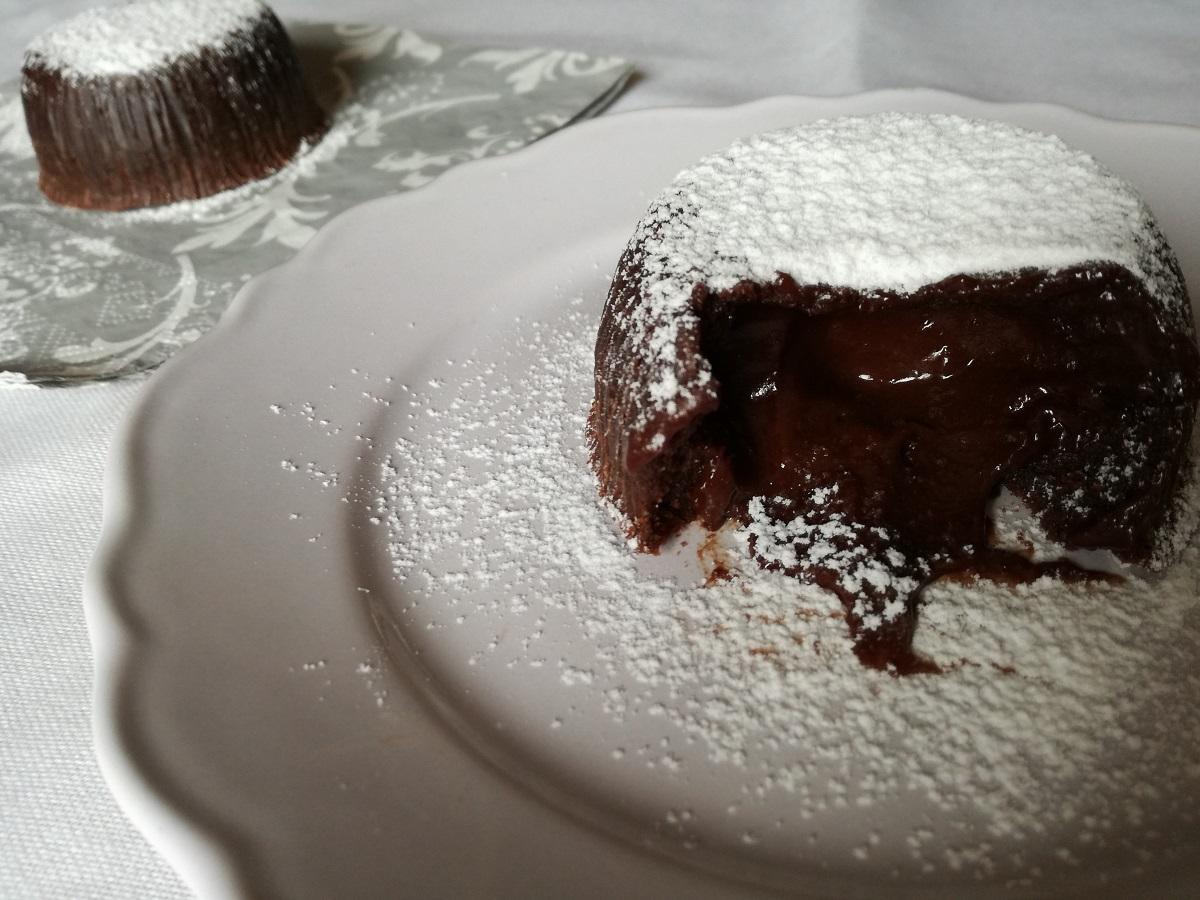 Tortino al cioccolato dal cuore fondente.
