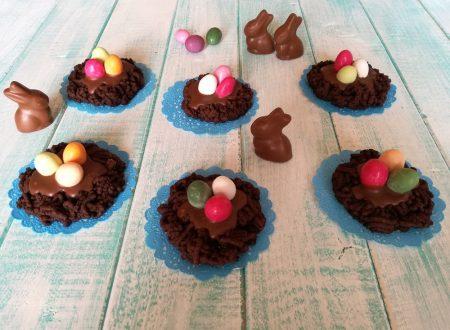 Nidi di Pasqua al cioccolato.